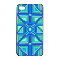 Grid Geometric Pattern Colorful Apple Iphone 4/4s Seamless Case (black) by Nexatart