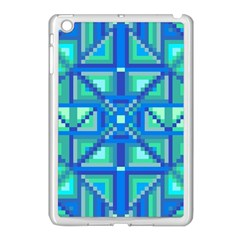 Grid Geometric Pattern Colorful Apple Ipad Mini Case (white) by Nexatart