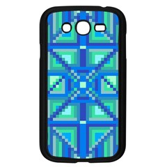 Grid Geometric Pattern Colorful Samsung Galaxy Grand Duos I9082 Case (black)