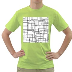 Structure Pattern Network Green T Shirt by Nexatart