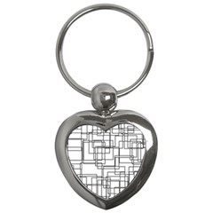 Structure Pattern Network Key Chains (heart)  by Nexatart