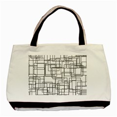 Structure Pattern Network Basic Tote Bag (two Sides)