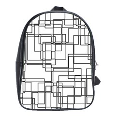 Structure Pattern Network School Bags(large)  by Nexatart