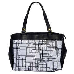 Structure Pattern Network Office Handbags by Nexatart