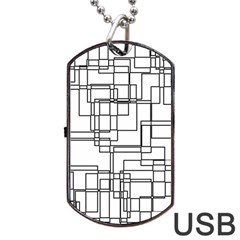Structure Pattern Network Dog Tag Usb Flash (two Sides) by Nexatart