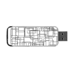 Structure Pattern Network Portable Usb Flash (two Sides) by Nexatart
