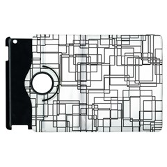 Structure Pattern Network Apple Ipad 2 Flip 360 Case by Nexatart