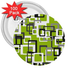 Pattern Abstract Form Four Corner 3  Buttons (100 Pack)