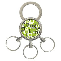 Pattern Abstract Form Four Corner 3 Ring Key Chains by Nexatart