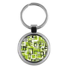 Pattern Abstract Form Four Corner Key Chains (round)  by Nexatart