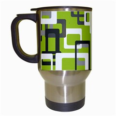 Pattern Abstract Form Four Corner Travel Mugs (white) by Nexatart