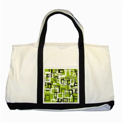 Pattern Abstract Form Four Corner Two Tone Tote Bag