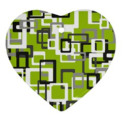 Pattern Abstract Form Four Corner Heart Ornament (two Sides) by Nexatart