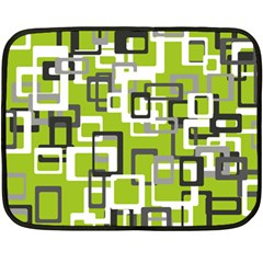 Pattern Abstract Form Four Corner Double Sided Fleece Blanket (mini)