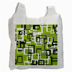 Pattern Abstract Form Four Corner Recycle Bag (one Side) by Nexatart