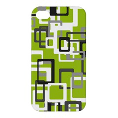 Pattern Abstract Form Four Corner Apple Iphone 4/4s Premium Hardshell Case