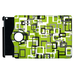 Pattern Abstract Form Four Corner Apple Ipad 2 Flip 360 Case by Nexatart