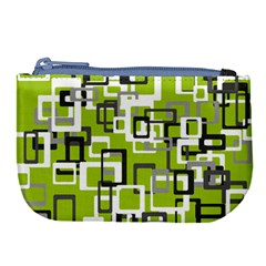 Pattern Abstract Form Four Corner Large Coin Purse by Nexatart