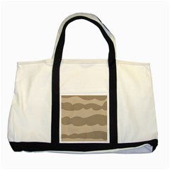 Pattern Wave Beige Brown Two Tone Tote Bag by Nexatart