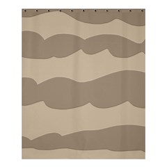 Pattern Wave Beige Brown Shower Curtain 60  X 72  (medium)  by Nexatart
