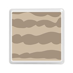 Pattern Wave Beige Brown Memory Card Reader (square)  by Nexatart