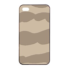 Pattern Wave Beige Brown Apple Iphone 4/4s Seamless Case (black)