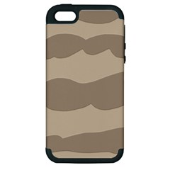 Pattern Wave Beige Brown Apple Iphone 5 Hardshell Case (pc+silicone)