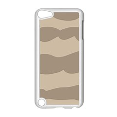 Pattern Wave Beige Brown Apple Ipod Touch 5 Case (white) by Nexatart