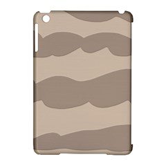 Pattern Wave Beige Brown Apple Ipad Mini Hardshell Case (compatible With Smart Cover)