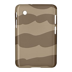 Pattern Wave Beige Brown Samsung Galaxy Tab 2 (7 ) P3100 Hardshell Case  by Nexatart