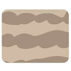Pattern Wave Beige Brown Double Sided Flano Blanket (medium)  by Nexatart