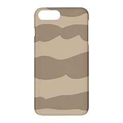 Pattern Wave Beige Brown Apple Iphone 7 Plus Hardshell Case by Nexatart