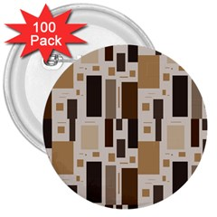 Pattern Wallpaper Patterns Abstract 3  Buttons (100 Pack)  by Nexatart