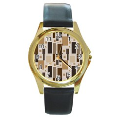 Pattern Wallpaper Patterns Abstract Round Gold Metal Watch