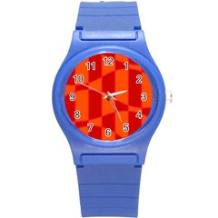 Background Texture Pattern Colorful Round Plastic Sport Watch (s) by Nexatart