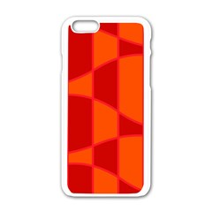 Background Texture Pattern Colorful Apple Iphone 6/6s White Enamel Case by Nexatart