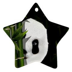 Panda Star Ornament (two Sides) by Valentinaart