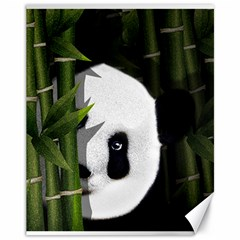 Panda Canvas 11  X 14   by Valentinaart