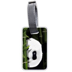 Panda Luggage Tags (one Side)  by Valentinaart