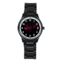 Pattern Design Abstract Background Stainless Steel Round Watch