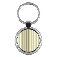 Pattern Background Green Lines Key Chains (round)  by Nexatart