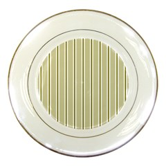 Pattern Background Green Lines Porcelain Plates