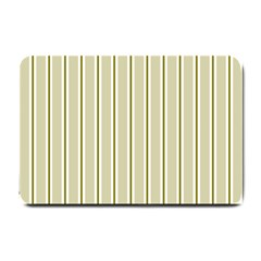 Pattern Background Green Lines Small Doormat  by Nexatart