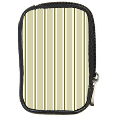 Pattern Background Green Lines Compact Camera Cases by Nexatart