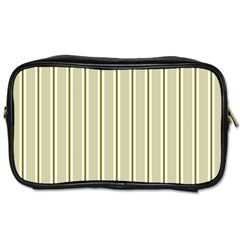 Pattern Background Green Lines Toiletries Bags by Nexatart