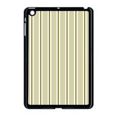 Pattern Background Green Lines Apple Ipad Mini Case (black) by Nexatart
