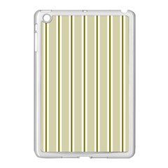 Pattern Background Green Lines Apple Ipad Mini Case (white)