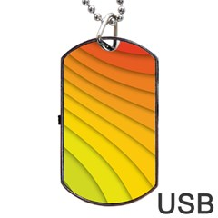 Abstract Pattern Lines Wave Dog Tag Usb Flash (two Sides)
