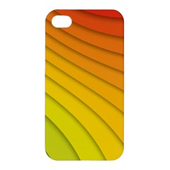 Abstract Pattern Lines Wave Apple Iphone 4/4s Premium Hardshell Case by Nexatart