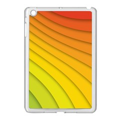 Abstract Pattern Lines Wave Apple Ipad Mini Case (white) by Nexatart